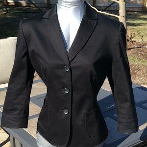 Nine West Suit Black Jacket 3/4 Sleeves Small